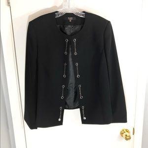 Alex Marie Woman Black Open Front Chains Blazer